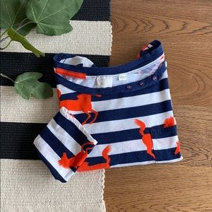 Anthropologie striped horse print tee size L